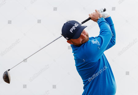 Andy Sullivan of England on the 2nd tee
