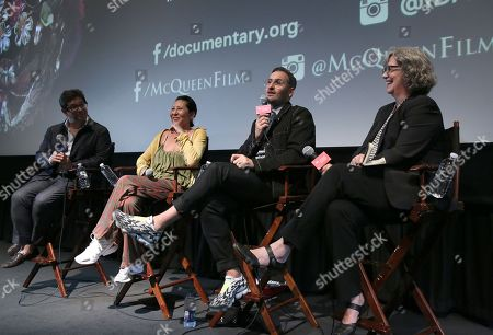 Director Peter Ettedgui, Stylist Mira Chai Hyde, Director Ian Bonhote and Anne Thompson