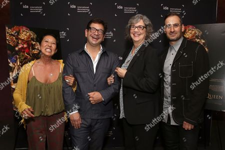 Stylist Mira Chai Hyde, Director Peter Ettedgui, Anne Thompson and Director Ian Bonhote