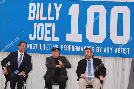 Governor Andrew Cuomo, Billy Joel and James L. Dolan
