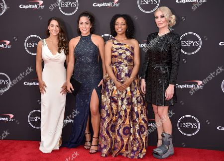 Alexandra Raisman, Jordyn Wieber, Tiffany Thomas Lopez and Sarah Klein