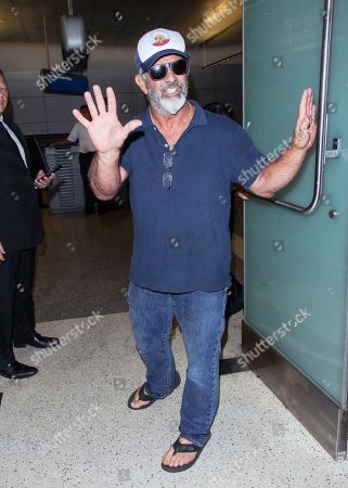 Mel Gibson at LAX International Airport, Los Angeles