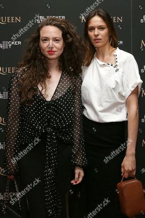 Stock Photo of Chloe Hartstein and Elise Crombez
