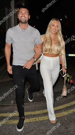 Amber Turner and Dan Edgar out and about, London