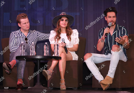 Stock Picture of Alexander Acha, Dulce Maria and Juan Solo