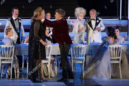 Editorial image of Jedermann rehearsal at Salzburg Festival, Austria - 18 Jul 2018