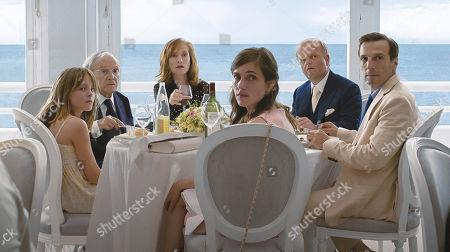 Stock Image of Fantine Harduin, Jean-Louis Trintignant, Isabelle Huppert, Laura Verlinden, Toby Jones, Mathieu Kassovitz
