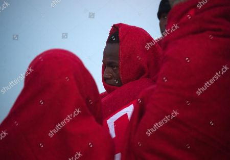 Rescued migrants arrive in Malaga