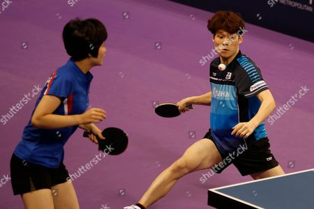 Editorial photo of World Tour Platinum Korean Open table tennis tournament, Daejeon, Korea - 19 Jul 2018