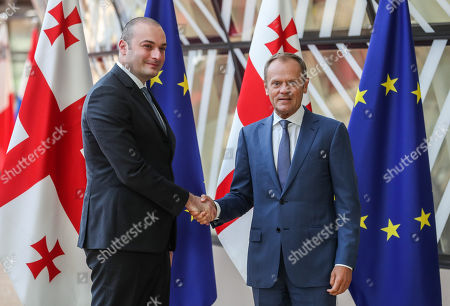 Prime Minister of Georgia Mamuka Bakhtadze visit to Brussels