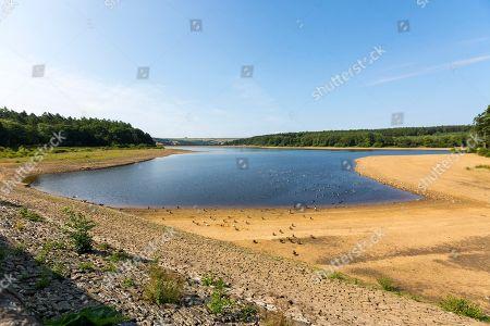 Low water level at Swinsty Reservoir, Harrogate