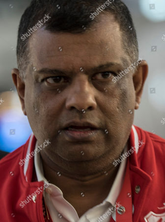 AirAsia Group CEO and AirAsia X Co-Group CEO, Tony Fernandes arrives for a press conference in Sepang, Selangor, Malaysia, 19 July 2018. AirAsia X's is the largest airline customer to order Airbus A330neo aircraft with the order increasing to 100. AirAsia X will be the first airline in Asia to operate the A330neo scheduled to start in the fourth quarter of 2019.