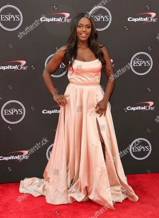 Stock Photo of Bobsledder Aja Evans arrives at the ESPY Awards at Microsoft Theater, in Los Angeles