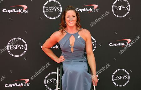 Paralympic athlete Tatyana McFadden arrives at the ESPY Awards at Microsoft Theater, in Los Angeles
