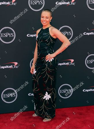 MMA fighter Rose Namajunas arrives at the ESPY Awards at Microsoft Theater, in Los Angeles