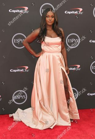Stock Image of Bobsledder Aja Evans arrives at the ESPY Awards at the Microsoft Theater, in Los Angeles