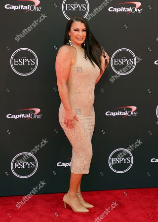 Wrestler Lisa Marie Varon arrives at the ESPY Awards at the Microsoft Theater, in Los Angeles