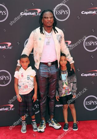 NFL football free agent Chris Johnson arrives at the ESPY Awards at the Microsoft Theater, in Los Angeles