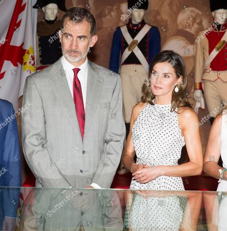 King Felipe and Queen Letizia visit to Bailen