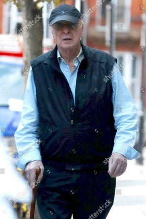 Exclusive - Michael Caine out and about, London