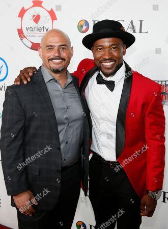 Michael Alvarez and Rocky Peter