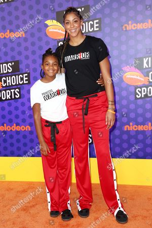 Lailaa Parker and Candace Parker
