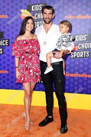 Nicole Johnson, Michael Phelps and Boomer Phelps