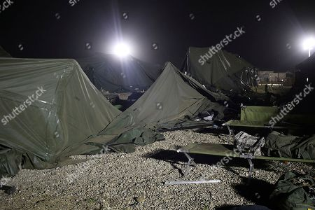 Editorial picture of Military Base Tent Collapse, Fort Hunter Liggett, USA - 18 Jul 2018