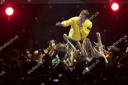 Singer Damon Albarn of the British alternative rock band Gorillaz performs on the main stage during the 43th  Paleo Festival in Nyon, Switzerland, 20 July 2018. The open-air music festival runs from 17 to 22 July.