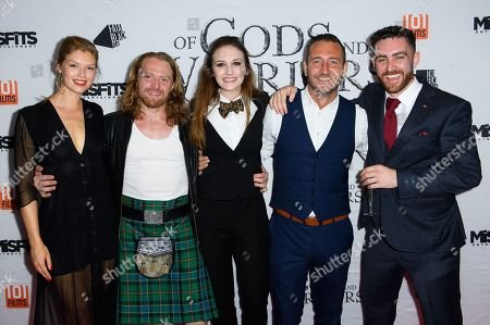 Cast of the film 'Of Gods and Warriors' including Kajsa Mohammar, Anna Demetriou, Will Mellor and Laurence O'Fuarain
