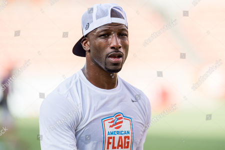 Godspeed wide receiver Jason Avant (81) prior to the American Flag Football League Ultimate Final between Godspeed and Fighting Cancer at BBVA Compass Stadium in Houston, TX. Fighting Cancer won the game 26 to 6