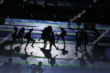 A group of dancers performs during the opening ceremony of the 23rd Central American and Caribbean Games, in Barranquilla, Colombia, 19 July 2018. The inauguration ceremony, which features Colombian international star Shakira as the main artist, began with the appearance of the former Miss Universe and Colombian model Paulina Vega in the center of the stadium at the Roberto Melendez Metropolitan Stadium in Barranquilla.