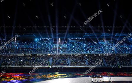 A general view of the opening ceremony of the 23rd Central American and Caribbean Games, in Barranquilla, Colombia, 19 July 2018. The inauguration ceremony, which features Colombian international star Shakira as the main artist, began with the appearance of the former Miss Universe and Colombian model Paulina Vega in the center of the stadium at the Roberto Melendez Metropolitan Stadium in Barranquilla.