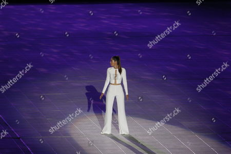Former Colombian Miss Universe Paulina Vega performs during the opening ceremony of the 23rd Central American and Caribbean Games, in Barranquilla, Colombia, 19 July 2018. The inauguration ceremony, which features Colombian international star Shakira as the main artist, began with the appearance of the former Miss Universe and Colombian model Paulina Vega in the center of the stadium at the Roberto Melendez Metropolitan Stadium in Barranquilla.