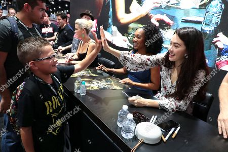 """Simone Missick and Jessica Henwick from """"Marvel's Iron Fist"""" at a fan signing at San Diego Comic-Con 2018."""