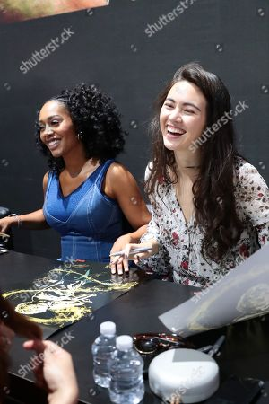 """Simone Missick and Jessica Henwick attend Netflix """"Marvel's Iron Fist"""" at San Diego Comic-Con 2018."""