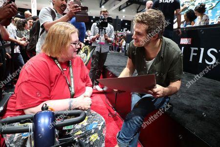 "Finn Jones attends Netflix ""Marvel's Iron Fist"" at San Diego Comic-Con 2018."