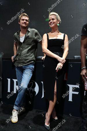 "Finn Jones and Alice Eve attend Netflix ""Marvel's Iron Fist"" at San Diego Comic-Con 2018."