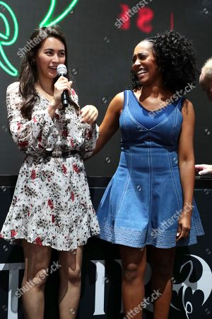 """Jessica Henwick and Simone Missick attend Netflix """"Marvel's Iron Fist"""" at San Diego Comic-Con 2018."""