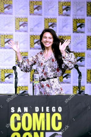 Jessica Henwick from Netflix 'Marvel's Iron Fist' at panel at San Diego Comic-Con 2018