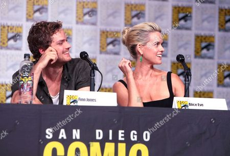 Finn Jones and Alice Eve from Netflix 'Marvel's Iron Fist' at panel at San Diego Comic-Con 2018