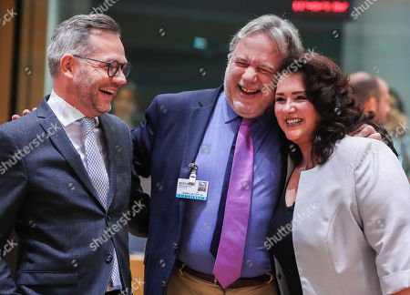 George Katrougalos, Michael Roth and Helena Dalli