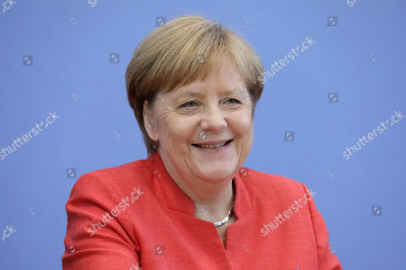 German Chancellor Angela Merkel annual press conference, Berlin