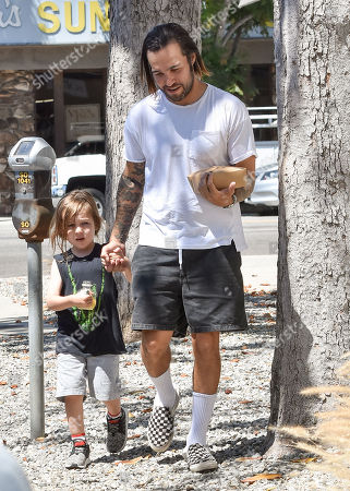 Pete Wentz and his son, Saint Wentz