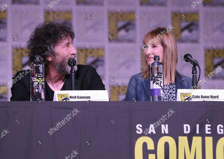 Neil Gaiman and Gale Anne Hurd