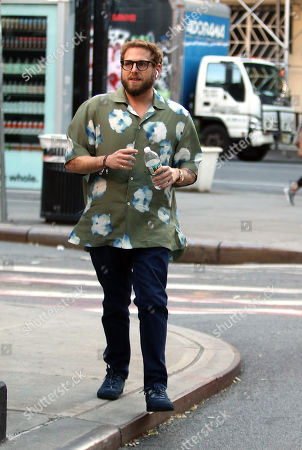 Editorial photo of Jonah Hill out and about, New York, USA - 20 Jul 2018