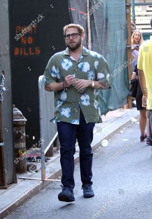 Editorial image of Jonah Hill out and about, New York, USA - 20 Jul 2018