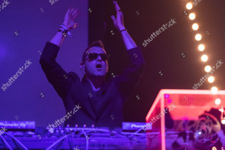 Stock Photo of UNKLE, James Lavelle, performs Orbit Stage