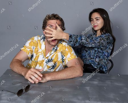 Stock Photo of Finn Jones and Jessica Henwick