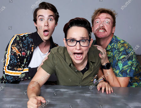 Stock Picture of Jeremy Shada, Bex Taylor-Klaus and Rhys Darby